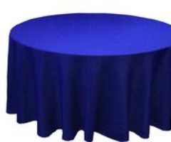 Linens Round Blue