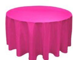 Linens Round Pink