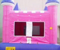 Pink and White Bounce House