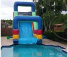 Water Slide 18 ft Into The Pool